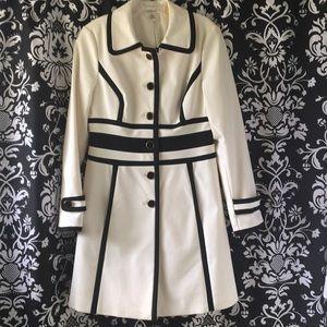 Vintage Harold's Coat Dress. Classic Navy & White
